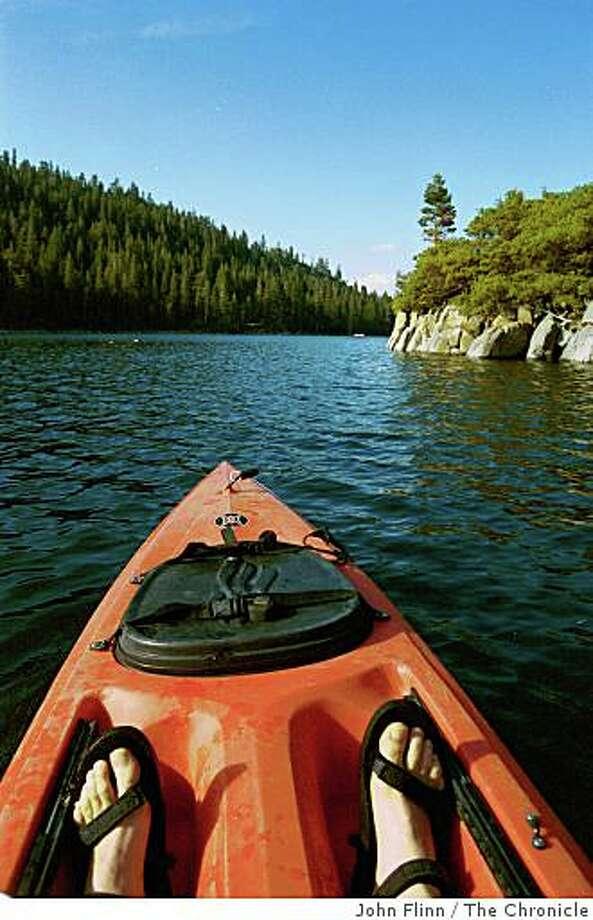 Kayaking in Emerald. Photo: John Flinn, The Chronicle