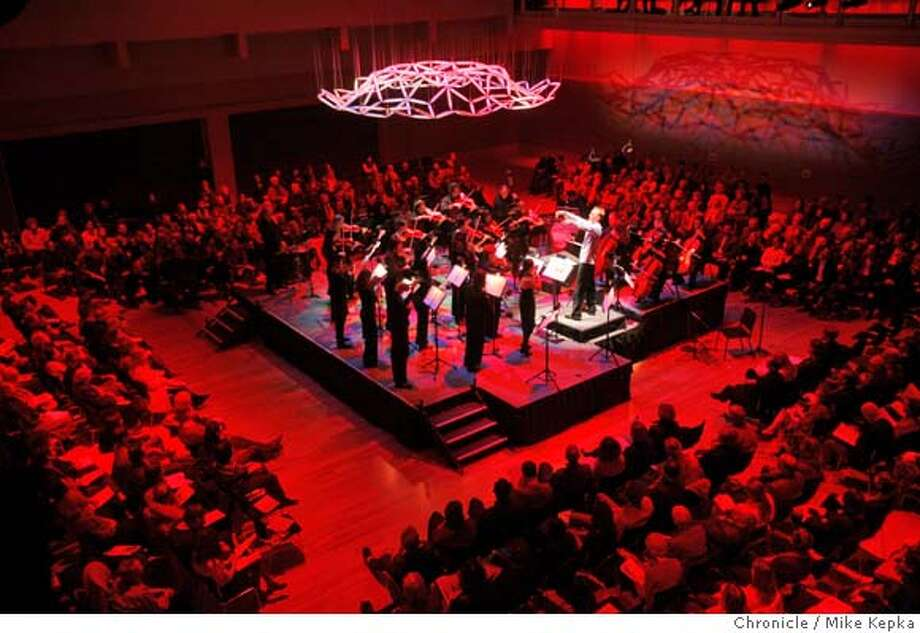 At Yerba Buena Center for the Arts Forum the New Century Chamber Orchestra performed a classical concert with twist. by adding violin solos, a DJ, and lights  Mike Kepka / The Chronicle Photo: Mike Kepka