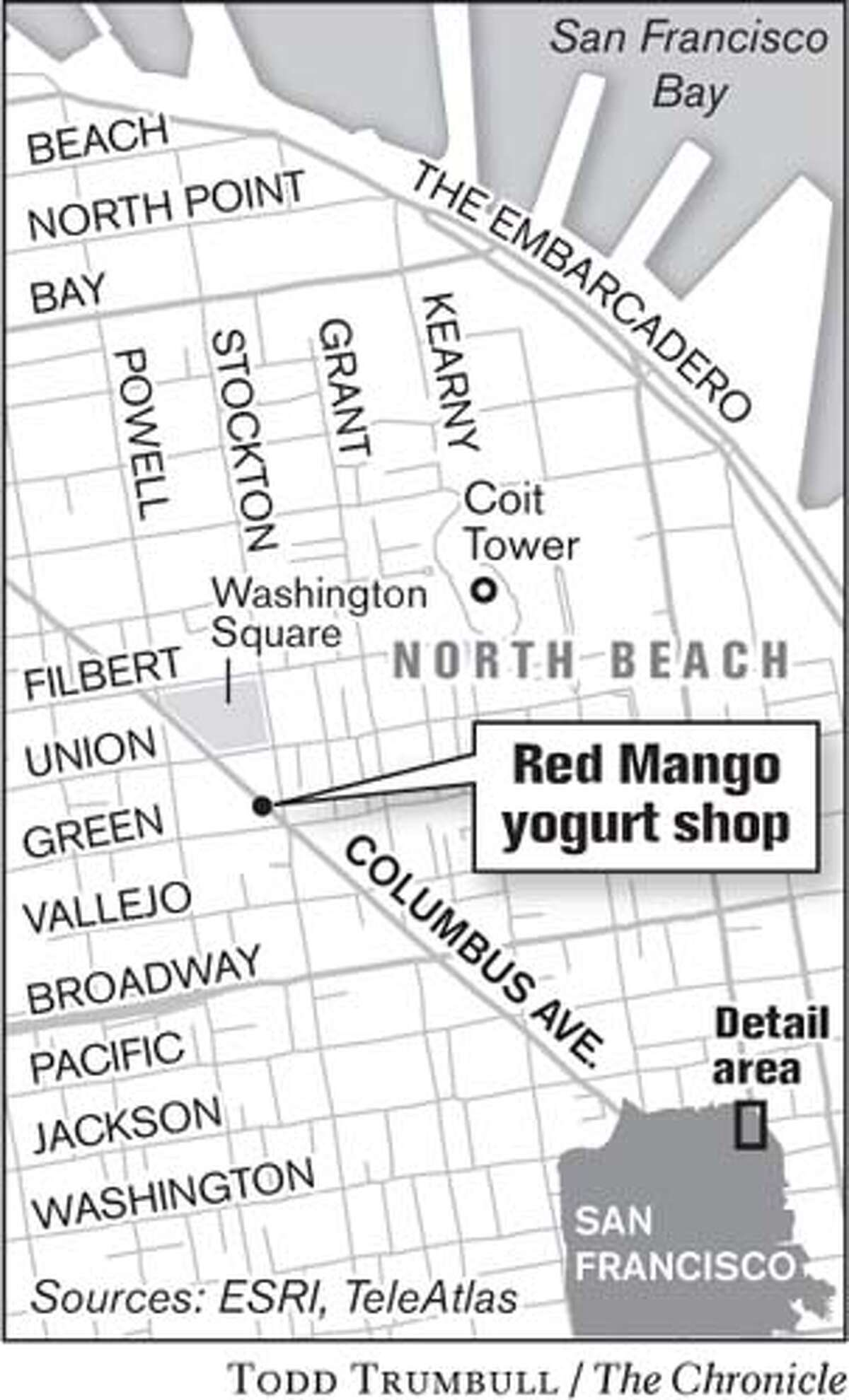 Red Mango Yogurt Shop. Chronicle graphic by Todd Trumbull