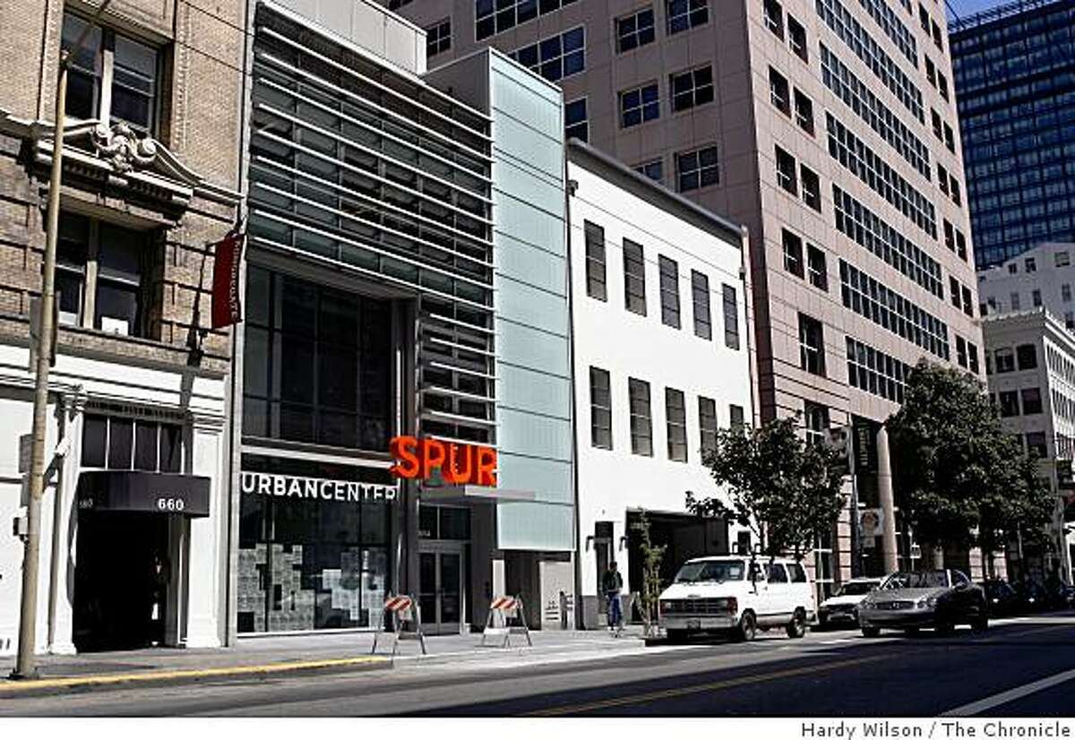 An exterior view of the new building for SPUR (San Francisco Planning and Urban Research) at 654 Mission Street in San Francisco, Calif., on Tuesday, May 19, 2009.