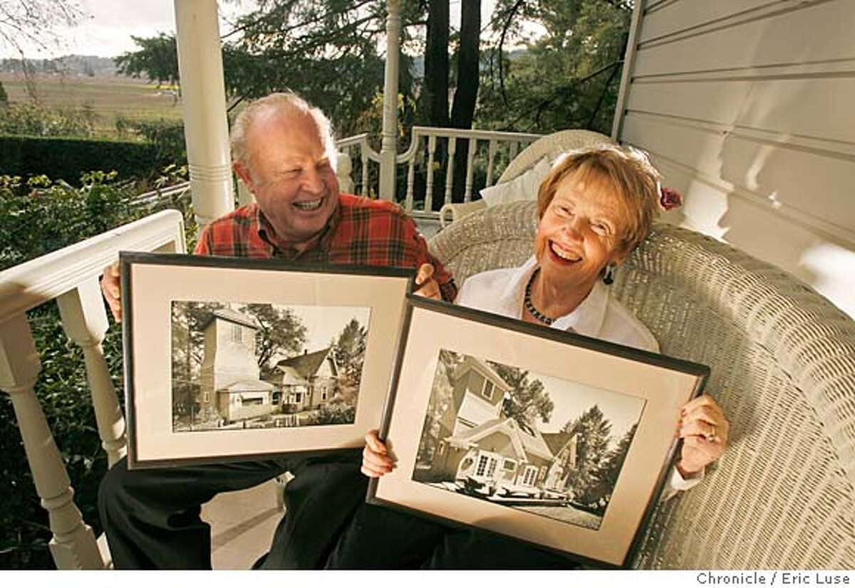 sigstyle_sales_walters_467_el.jpg Jim and Dotty on the front porch with a set of photos by local Lenny Segal, one in 1988 before the remodel and one after in 1990. He was commissioned by Sales to shoot them. Jim and Dotty Walters home in Healdsburg rebuilt by Enid Sales, first female contractor in the state. Eric Luse / The Chronicle Photo taken on 1/7/08, in Sonoma County, CA, USA Name cq by source Jim and Dotty Walters Enid Sales