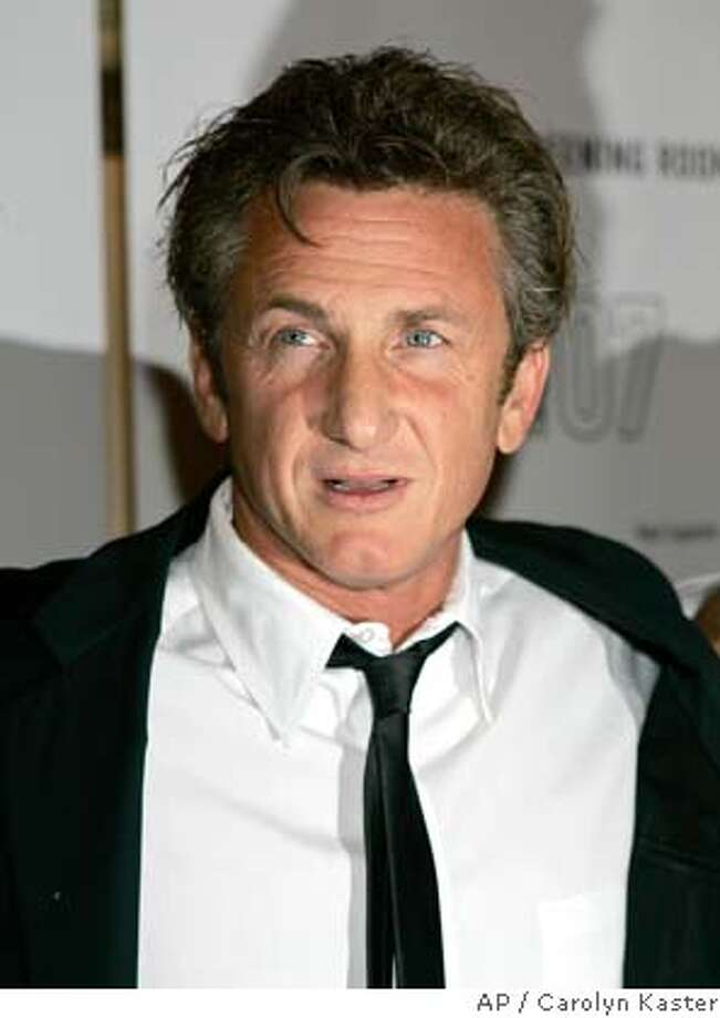 """Director Sean Penn attends the premiere of """"Into The Wild"""" during the Toronto International Film Festival in Toronto, Sunday, Sept. 9, 2007. (AP Photo/Carolyn Kaster)  Ran on: 09-12-2007  Sean Penn, right, will play Harvey Milk, San Francisco's first openly gay supervisor.  Ran on: 09-12-2007  Sean Penn, right, will play Harvey Milk, San Francisco's first openly gay supervisor.  Ran on: 01-20-2008  Sean Penn, left, will play slain San Francisco supervisor and gay rights activist Harvey Milk in the biopic &quo;Milk.&quo; Photo: Carolyn Kaster"""