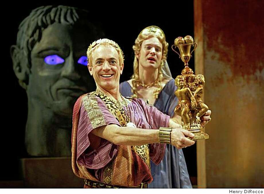 "Danny Scheie (left) as the emperor Nero and Kasey Mahaffy in Amy Freed's ""You, Nero"" at Berkeley Rep Photo: Henry DiRocco"
