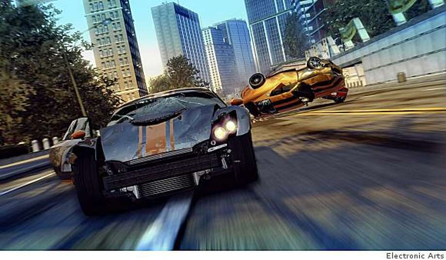 "A scene from ""Burnout Paradise"" from Electronic Arts. Photo: Electronic Arts"