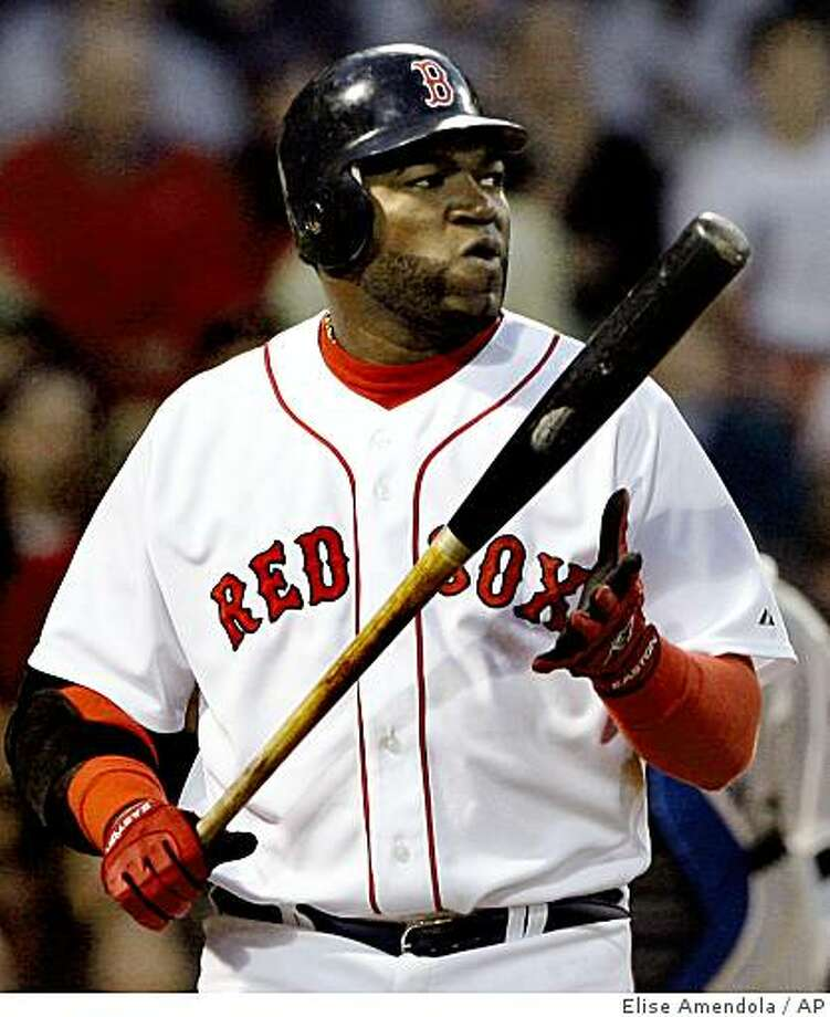 Boston Red Sox designated hitter David Ortiz reacts after striking out against Toronto Blue Jays starting pitcher Brian Tallet in the third inning of a baseball game at Fenway Park in Boston on Tuesday, May 19, 2009. (AP Photo/Elise Amendola) Photo: Elise Amendola, AP