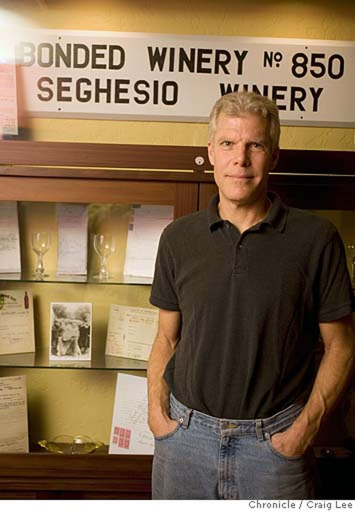 Photo of Ted Seghesio, winemaker at Seghesio Family Vineyards. on 1/8/08 in Healdsburg. photo by Craig Lee / The Chronicle