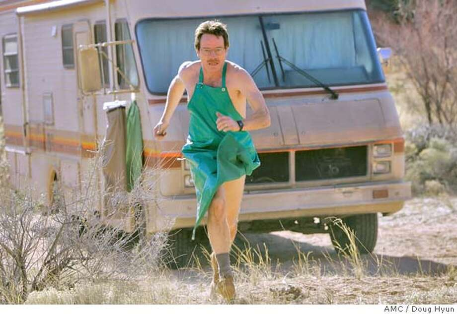 "In this photo released by AMC,Walter White (Bryan Cranston) runs for his life in the AMC drama series ""Breaking Bad"".(AP Photo/Doug Hyun,AMC) Photo: DOUG HYUN"