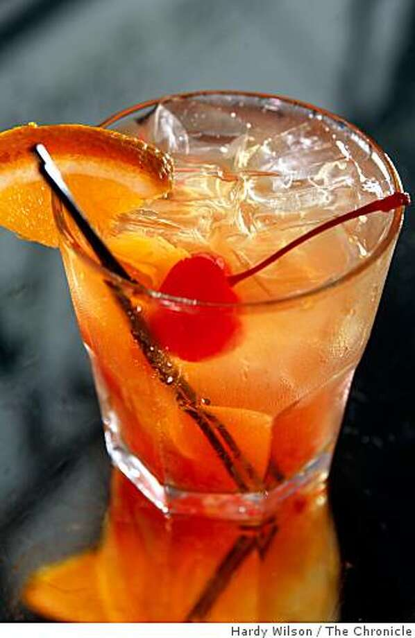 Picture of the Jim Beam Old Fashioned drink at the bar at the Hotel Mac in Point Richmond, Calif., on Thursday, May 14, 2009. Photo: Hardy Wilson, The Chronicle
