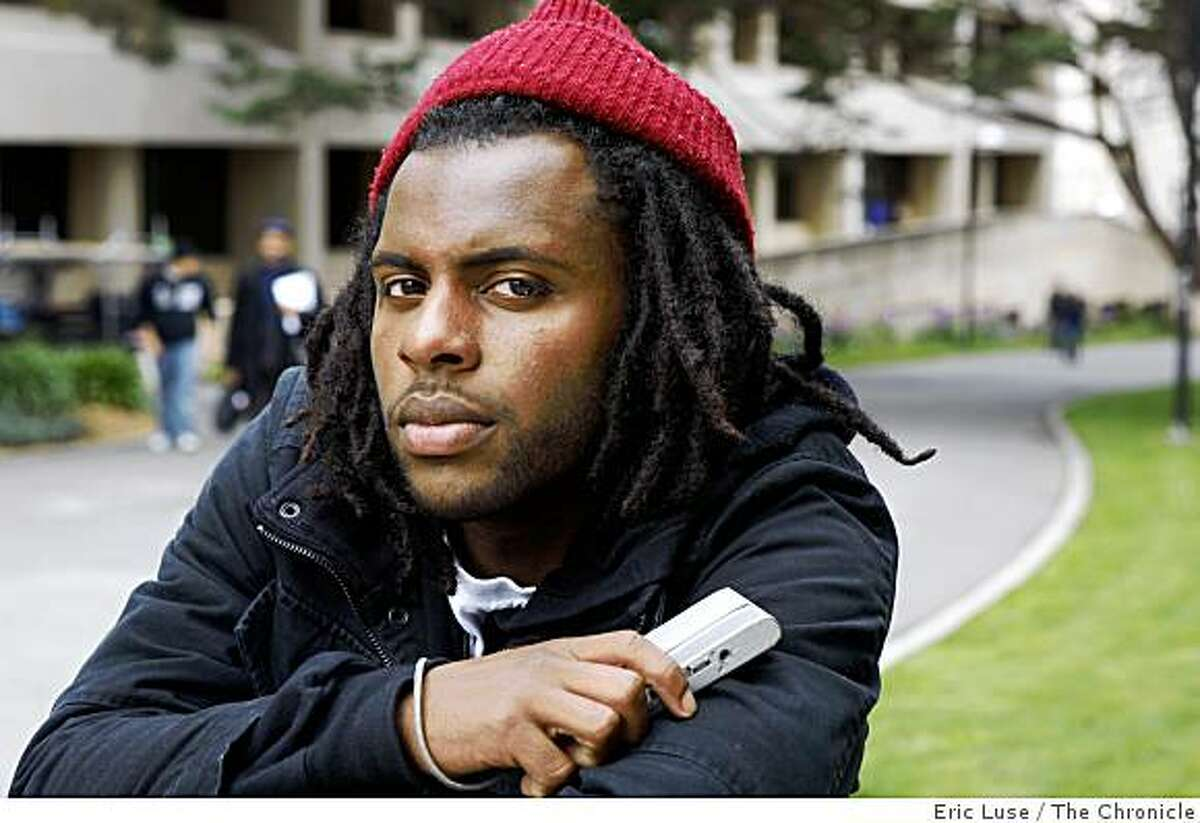 Tommy Cross Jr., 20, San Leandro, attends San Francisco State caught the fatal shooting of Oscar Grant on his video camera photographed in San Francsico on Friday, March 20, 2009.