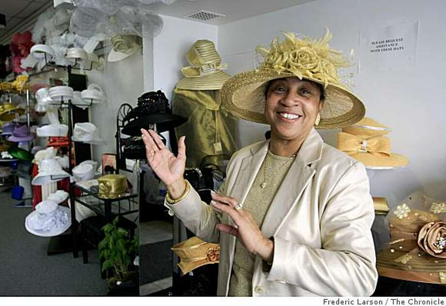 May Henderson sells designer hats of all kinds where most of her  clientele are mostly African American women in Oakland, Calif., May 8,  2009. Photo: Frederic Larson, The Chronicle