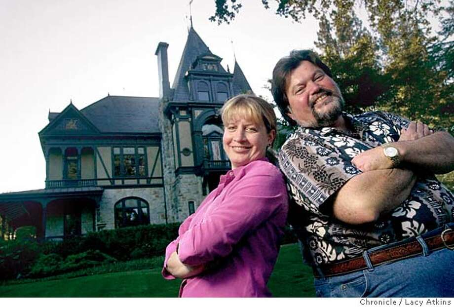 SBRAGIA-C-19SEPT02-FD-LA  Laurie Hook, winemaker and Ed Sbragia winemaster of Beringer, stand in front of the wineries Rhine House, which was built in 1883.  SAN FRANCISCO CHRONICLE/LACY ATKINS Photo: LACY ATKINS
