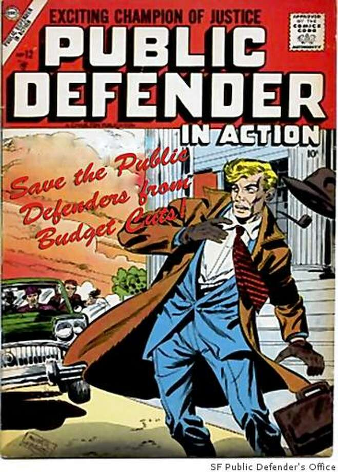 Public Defender Jeff Adachi has created pulp-themed postcards pre-addressed to Mayor Gavin Newsom calling for the mayor to not slash the Public Defenders budget amid the financial crisis. Photo: SF Public Defender's Office
