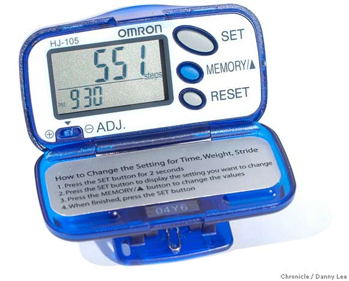 Omron pedometer photo for Monday's tech page on products to help you keep your New Year's resolution. Danny Lee /