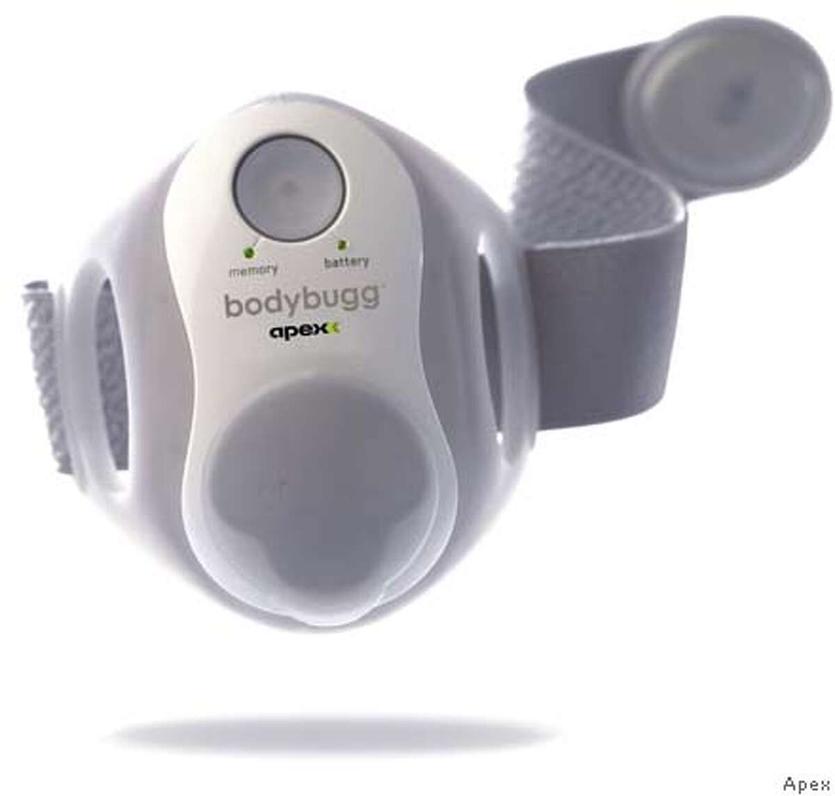 BodyBugg photo for Monday's tech page on products to help you keep your New Year's resolution. Apex /
