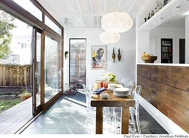 Vintage cottage gets contemporary comforts sfgate for Galley kitchen with dining area