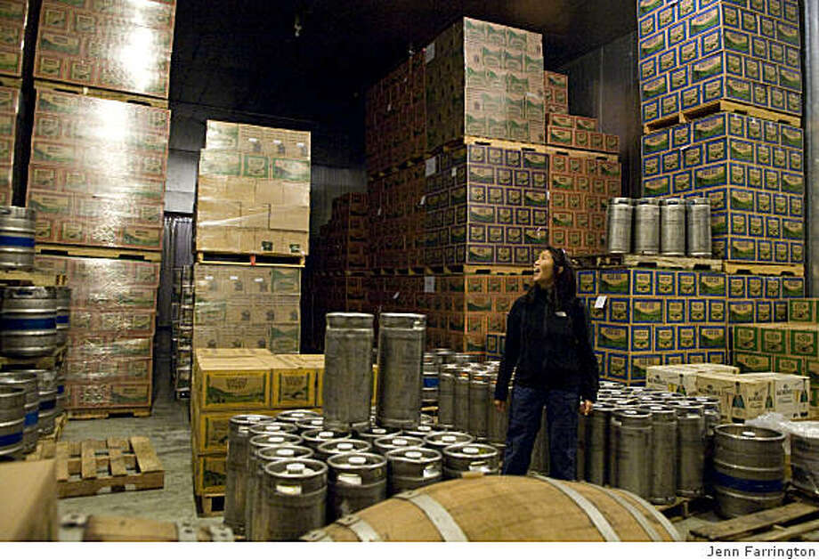 Jacqueline Yau, beer storage, Anderson Valley Brewing Company, Boonville, CA Photo: Jenn Farrington