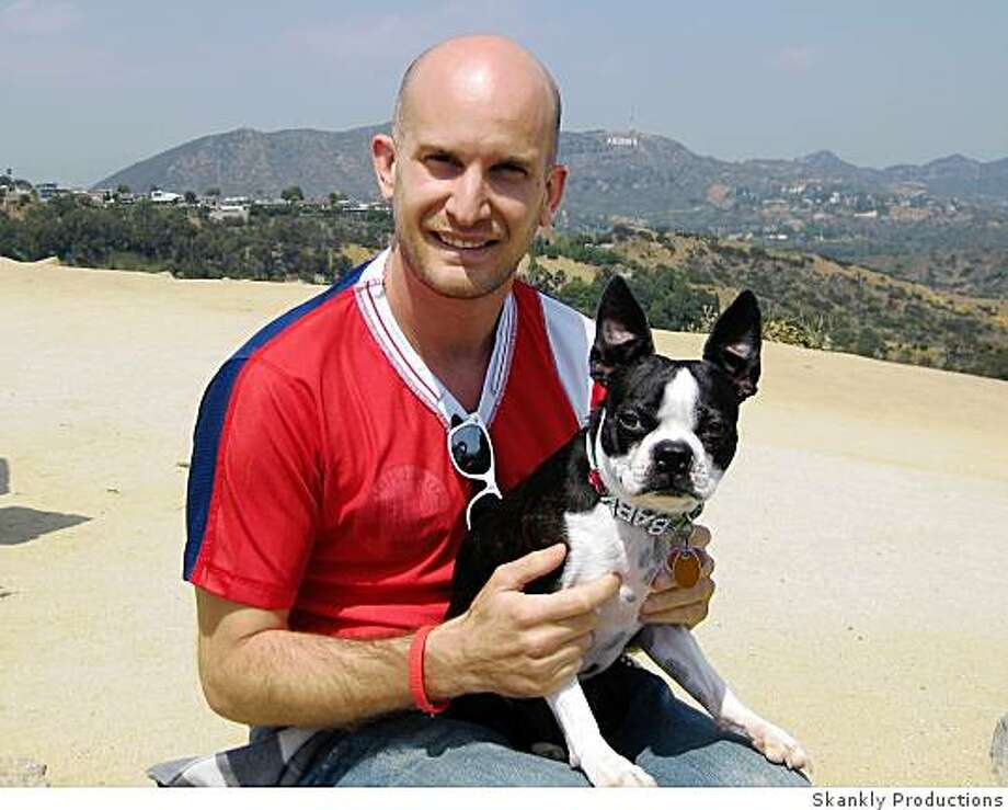 Leon Logothetis with Winston in Runyon Canyon Photo: Skankly Productions
