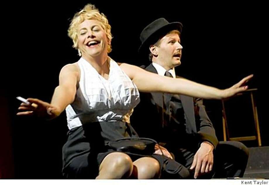"""JoAnne Winter (left) and Ryan Tasker in Tennessee Williams' """"Two on a Party"""" at Theatre Rhinoceros Photo: Kent Taylor"""