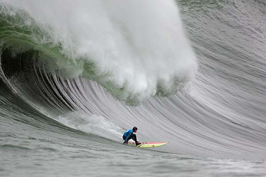 Surfer Jamie Sterling won the first heat of the Mavericks  contest.  Frederic Larson / The Chronicle Photo taken on 1/12/08, in Half Moon Bay, CA, USA Photo: Frederic Larson, SFC