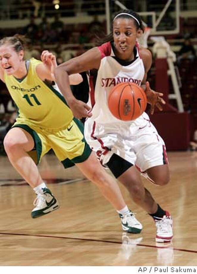 Candice Wiggins sparked the Cardinal early in Saturday's game against Oregon. She finished with 20 points. Associated Press photo by Paul Sakuma