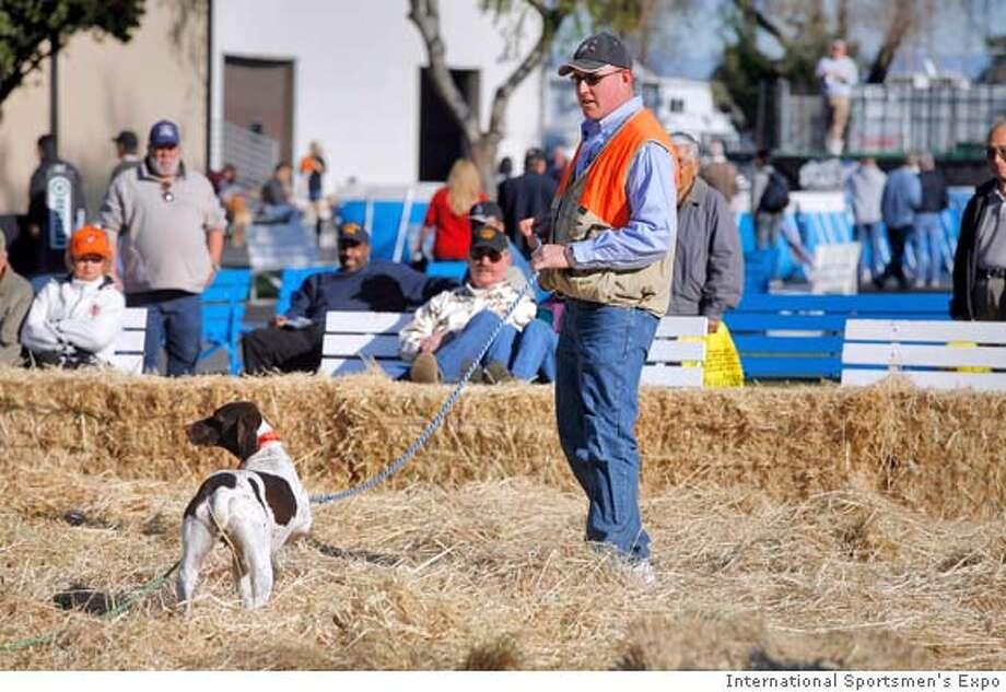 Dog retrieval demos at the International Sportsmen's Expo Bay Area. courtesy of International Sportsmen's Expo. Photo: Courtesy Of International Sports