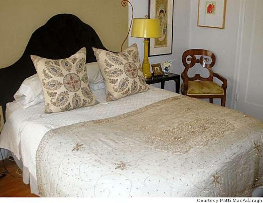 Patti MacAdaragh turned fabric from India into a bed coverlet. Photo: Courtesy Patti MacAdaragh