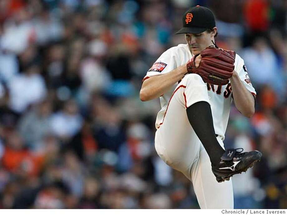 GIANTS07_li_008.JPG Barry Zito pitches in the first inning.  Washington Nationals play the San Francisco Giants at AT&T Park in San Francisco, CA, on Tuesday, August 07, 2007. Lance Iversen / The Chronicle ** (cq) MANDATORY CREDIT FOR PHOTOG AND SF CHRONICLE/NO SALES-MAGS OUT Photo: Lance Iversen