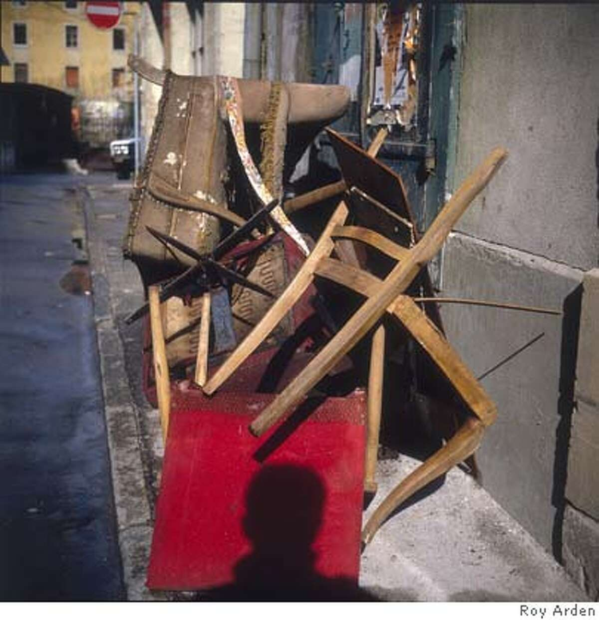 Roy Arden Discarded Chairs (#1), Geneva, 1981-1985 cibachrome print Courtesy of the artist and Monte Clark Gallery
