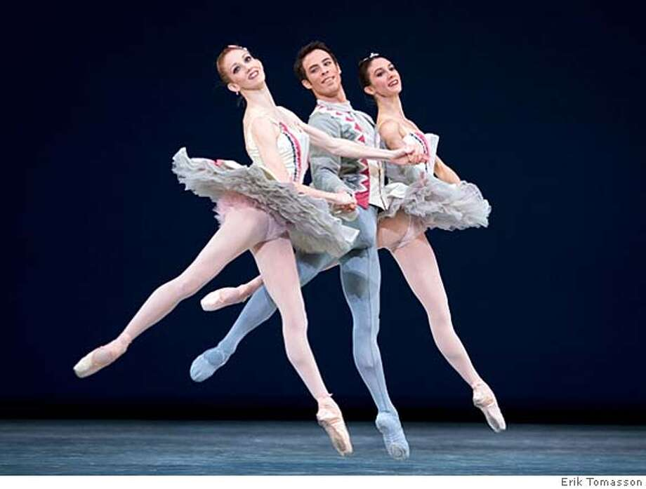 Katita Waldo, Nicolas Blanc and Rachel Viselli in Balanchine's Divertimento No.15. San Francisco Ballet Program 2, 2008 season � Erik Tomasson Ran on: 01-06-2008  San Francisco Ballet's (from left) Katita Waldo, Nicolas Blanc and Rachel Viselli will dance Balanchine's Divertimento No. 15 this season. Photo: Erik Tomasson