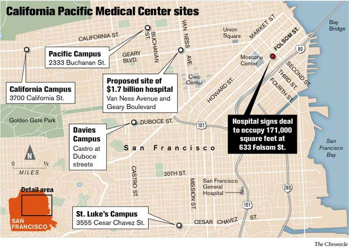 California Pacific Medical Center Sites. Chronicle Graphic