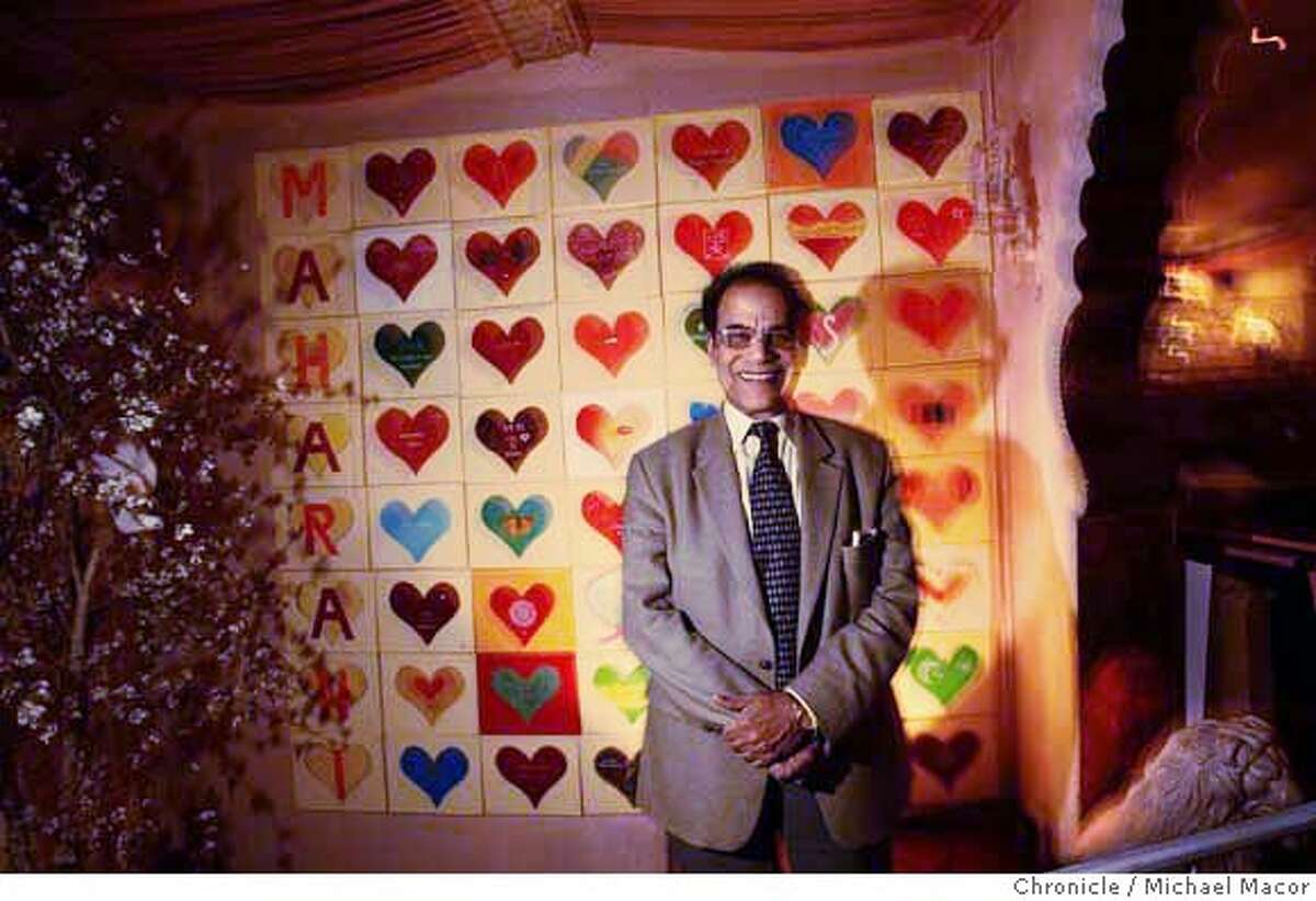 resolutions30_018_mac.jpg Kapur stands with the original hearts that he created. The hearts cover a wall of the restaurant. Joy Kapur, the longtime owner of Maharani Indian restaurant, in San Francisco,made a particularly unusual resolution last year. In the wake of his open heart surgery, he resolved to paint 1 million hearts on the walls of his restaurant as a way to awaken customers' spiritual side. Michael Macor / The Chronicle Photo taken on 12/20/07, in San Francisco, CA, USA MANDATORY CREDIT FOR PHOTOG AND SAN FRANCISCO CHRONICLE/NO SALES-MAGS OUT