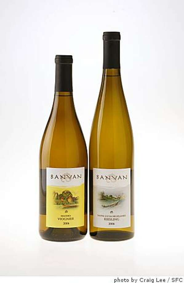 Banyan Madera Viognier 2006 (left) and Banyan Santa Lucia Highlands Riesling 2006 (rig Photo: Photo By Craig Lee, SFC
