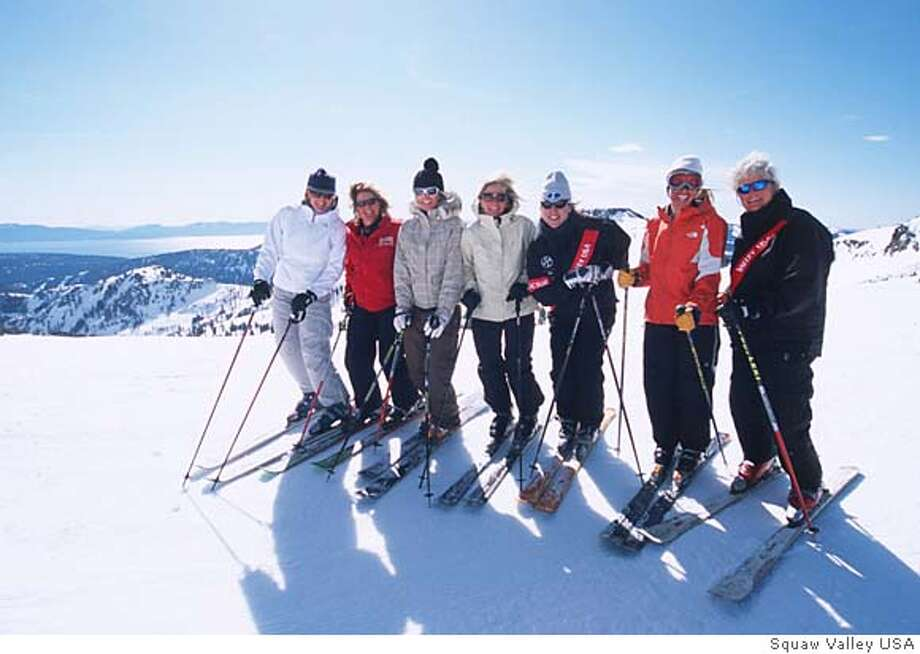 Attached are some images to accompany the Squaw Valley Ski Clinic graph in my story. Photo credit goes to Squaw Valley USA resort. Thanks, Travis Jensen Photo: -