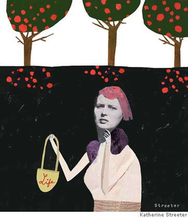 illustration for 1230 mag story about womens happiness, credit Katherine Streeter. for mag use only, ok to tease and post on gate  Ran on: 12-30-2007 Ran on: 12-30-2007 Photo: Katherine Streeter