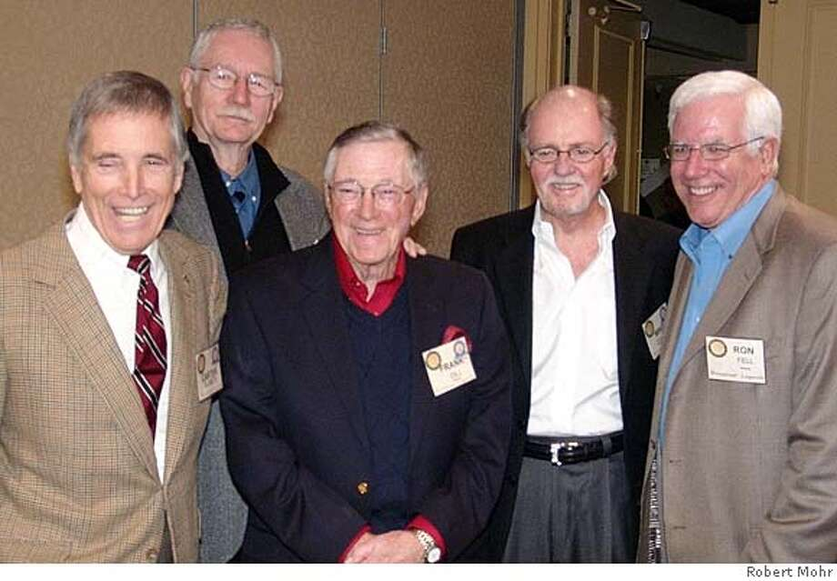 Photo caption: KNBR alumni at the Radio Hall of Fame induction (Left to right): Carter B. Smith, Jim Jones, Frank Dill, Mike Cleary, and Ron Fell. �Photo by Robert Mohr 2007 Photo: Robert Mohr