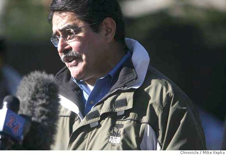 Director of the San Francisco Zoo, Manuel Mollinedo, makes a statement about the tiger mauling at the zoo that killed one and injured two others on Tuesday 12/25.  Mike Kepka / The Chronicle Photo taken on 12/26/07, in San Francisco, CA, USA MANDATORY CREDIT FOR PHOTOG AND SAN FRANCISCO CHRONICLE/NO SALES-MAGS OUT Photo: Mike Kepka
