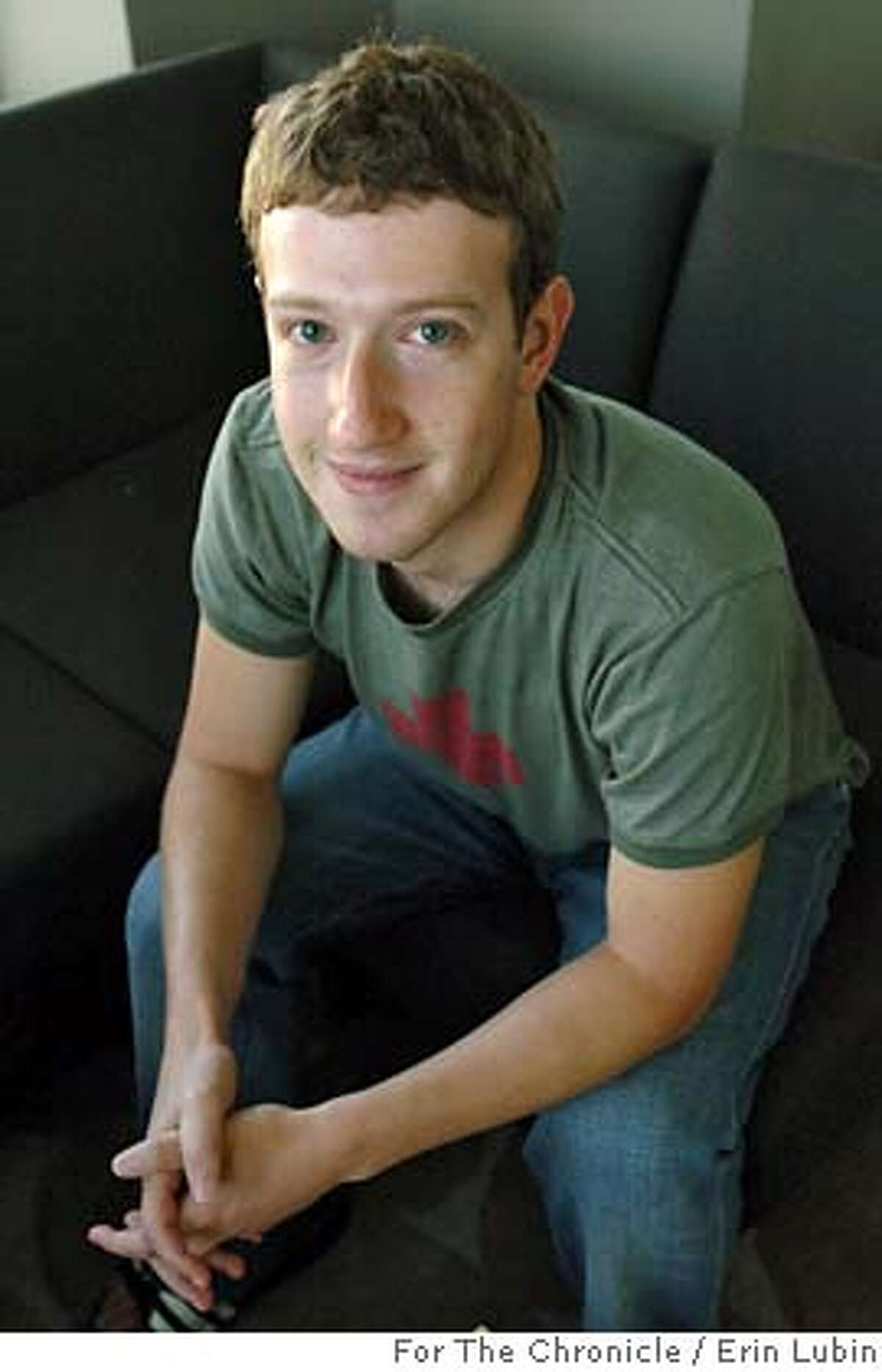 FACEBOOK_EAL_008.JPG Mark Zuckerberg, Co-founder and CEO of Facebook, sits in the conference room at the Facebook office in downtown Palo Alto Thursday, August 17, 2006. Facebook is a popular website where college and high school students can put their profile online and connect to their classmates. Event on 8/17/06 in Palo Alto. Erin Lubin / For the Chronicle Ran on: 09-25-2007 Andrew Cuomo, left, New Yorks attorney general, says Facebook, the site started by Mark Zuckerberg, right, doesnt do enough to stop sexual predators. Ran on: 10-25-2007 Ran on: 10-25-2007 Ran on: 10-25-2007 Ran on: 12-23-2007 Mark Zuckerberg, co-founder and CEO of Facebook, has had an eventful year, from a big Microsoft investment to an uproar over privacy concerns by users of the popular site.