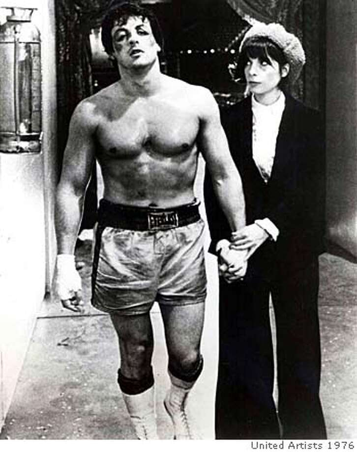 Sylvester Stallone as Rocky and Talia Shire as Adrian in the 1976 film Rocky. Photo: United Artists 1976
