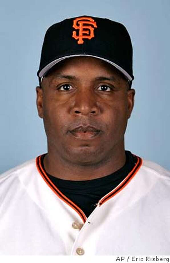 ** FILE ** This is a 2007 file photo of former San Francsico Giants baseball player Barry Bonds. (AP Photo/Eric Risberg) A 2007 FILE PHOTO EFE OUT Photo: Eric Risberg