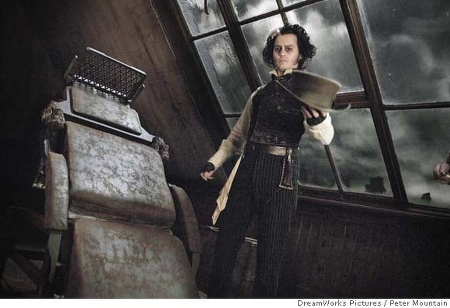 Johnny Depp stars in the title role of �Sweeney Todd The Demon Barber of Fleet Street.� DreamWorks Pictures and Warner Bros. Pictures Present A Parkes/MacDonald Production A Zanuck Company Production A Tim Burton film, �Sweeney Todd The Demon Barber of Fleet Street� starring Johnny Depp Photo: Photo Credit: Peter Mountain