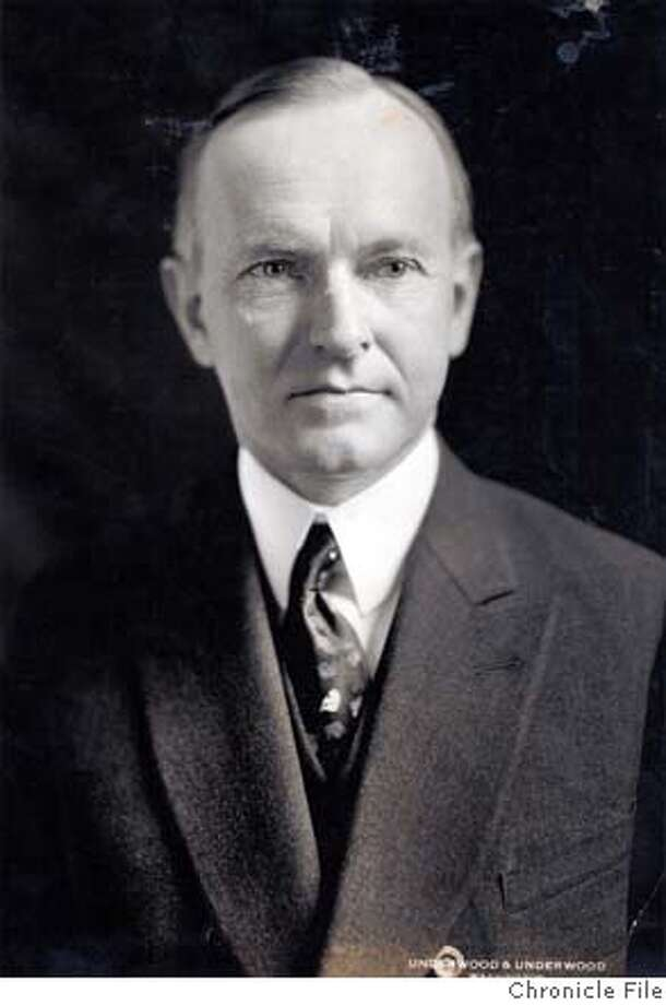 THIS IS A IMAGE. PLEASE VERIFY RIGHTS. DEPRESSION5-B-12MAR03-LV-HO Calvin Coolidge Photo: HANDOUT