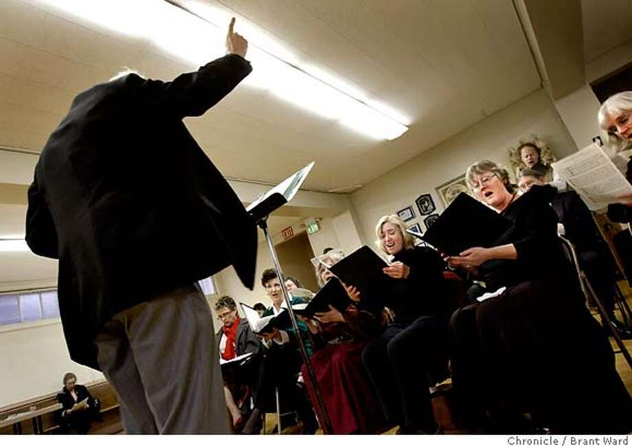 gregorian_chant_769.JPG  During a rehearsal before mass, Music Professor William Mahrt leads the choir.  Stanford Professor William Mahrt rehearses his choir which still sing Gregorian chants, a centuries old Catholic tradition Mahrt believes is a pathway to the sacred and divine.  The choir is called St. Ann Choir and they perform at St. Thomas Acquinas in Palo Alto.  {By Brant Ward/San Francisco Chronicle}11/25/07  Ran on: 12-23-2007  William Mahrt directs the St. Ann Choir during a rehearsal before Mass. The choir performs Gregorian chant at St. Thomas Aquinas Church in Palo Alto. Photo: Brant Ward