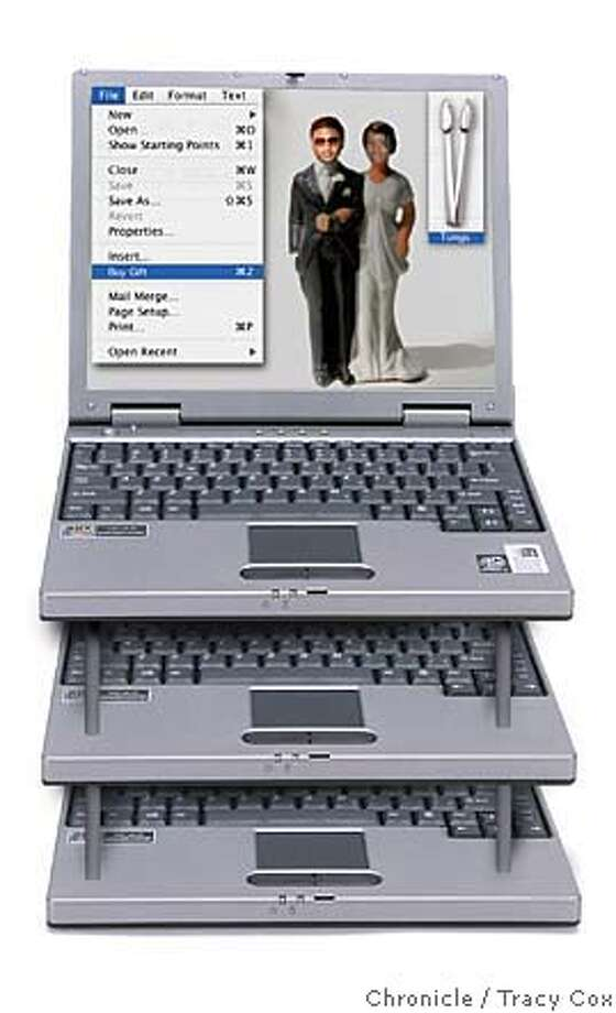 Dell Inspirion 2000 laptop For Peter Hartlaub story on technology ruing weddings. Sent Usher and his bride an asparagas clamp for gift from Crate and Barrel Photo: Tracy Cox