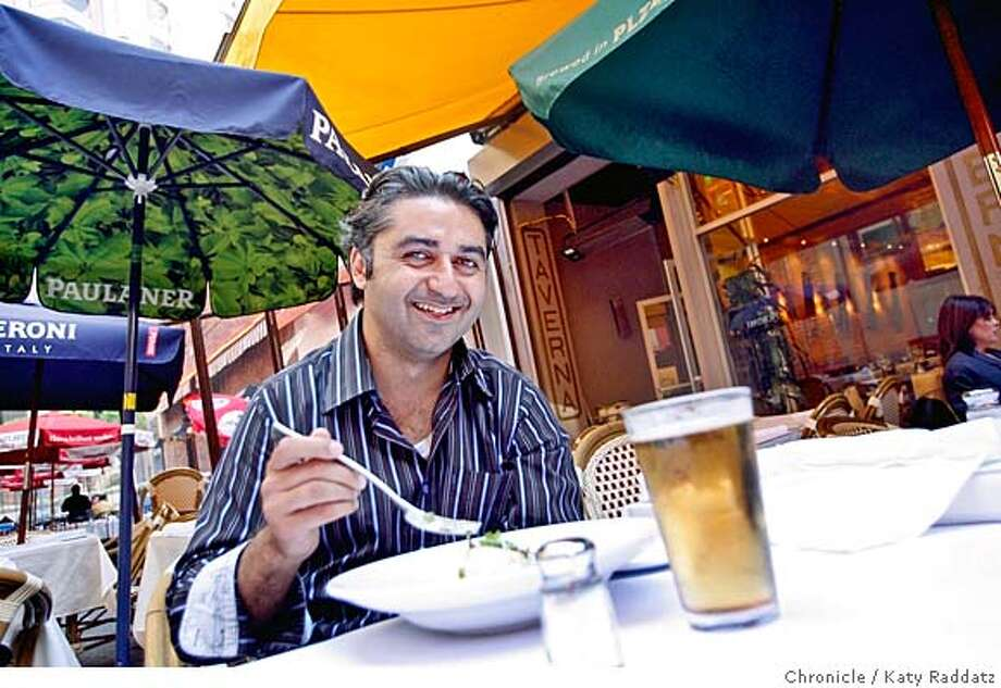 ONTHETOWN_HOOMAN  Hooman Khalili, a radio personality from Alice 97.3 FM, dining on butterfish and beer at one of his favorite places in San Francisco: Belden Taverna. These pictures were made on Wednesday Nov.14, 2007, in San Francisco, CA.  KATY RADDATZ/The Chronicle Photo taken on 11/14/07, in San Francisco, CA, USA MANDATORY CREDIT FOR PHOTOG AND SAN FRANCISCO CHRONICLE/NO SALES-MAGS OUT Photo: KATY RADDATZ