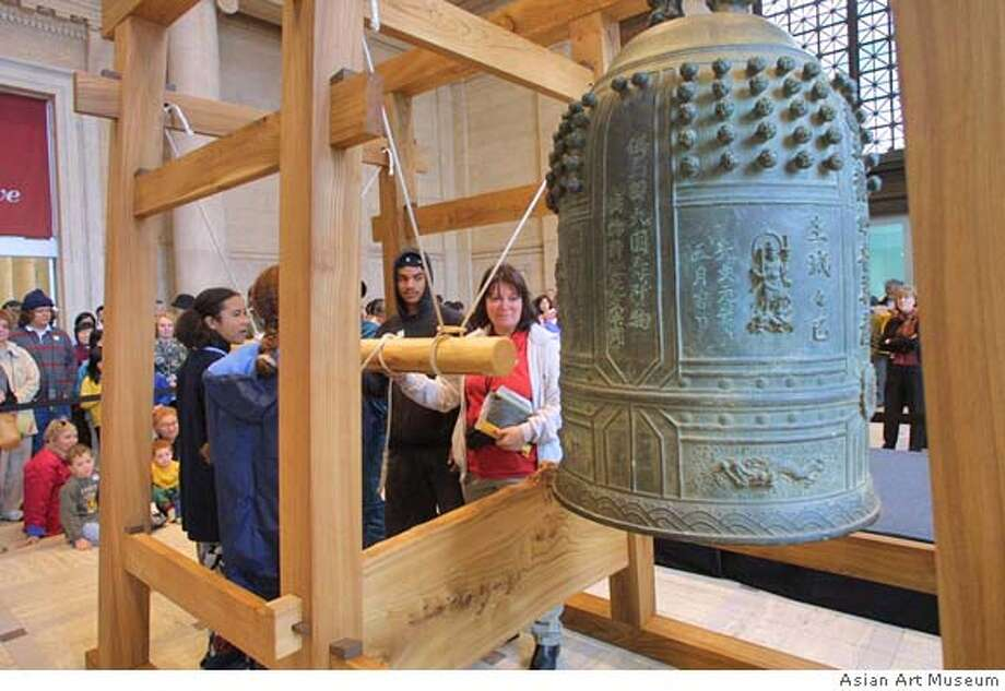 Japanese bell ringing ceremony at the asian art museum. Photo: Courtesy Asian Art Museum