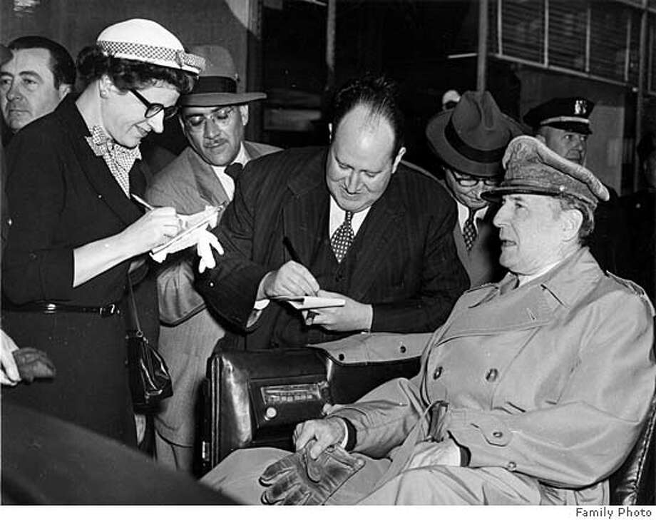 UPI reporter interviews Gen. Douglas MacArthur Photo: Family Photo