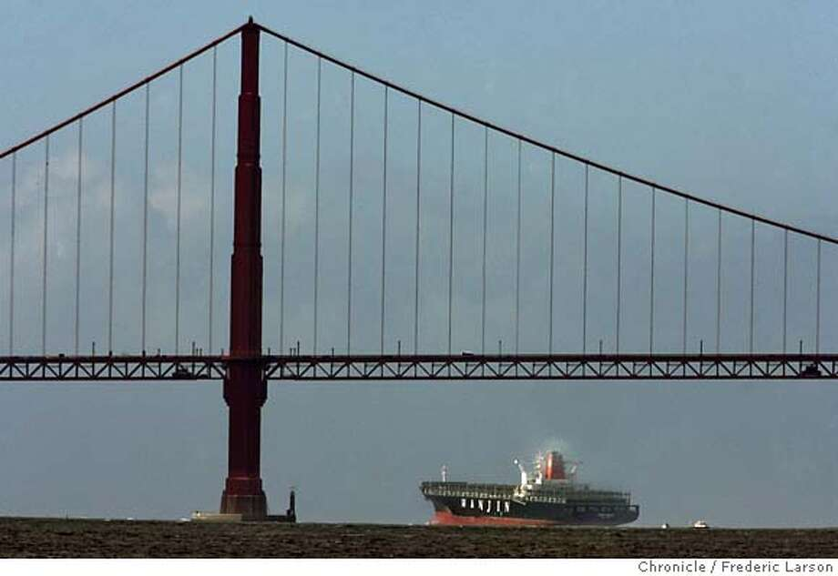 Cosco Busan set sail today from Anchorage 9 off Hunters Point, heading out the Golden Gate and points west. Frederic Larson / The Chronicle  Photo taken on 12/21/07, in San Francisco, CA, USACosco Busan set sail today from Anchorage 9 off Hunters Point, heading out the Golden Gate and points west. Frederic Larson / The Chronicle  Photo taken on 12/21/07, in San Francisco, CA, USA MANDATORY CREDIT FOR PHOTOG AND SAN FRANCISCO CHRONICLE/NO SALES-MAGS OUT Photo: Frederic Larson