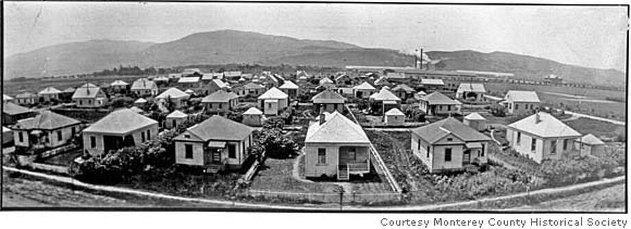Panorama of company-built houses in Spreckles. Photo: Courtesy Monterey County Histori