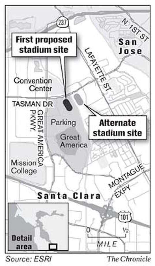Proposed Stadium Sites. Chronicle Graphic