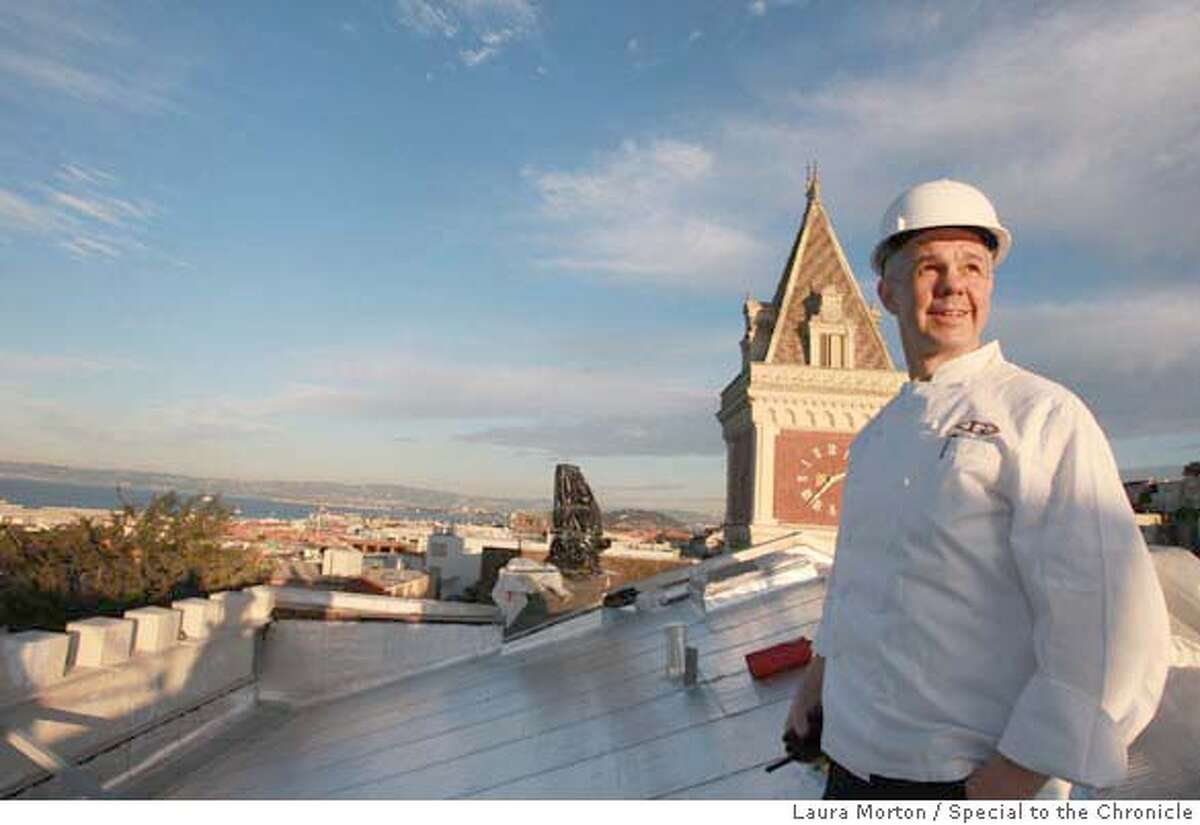 Chef Gary Danko at Ghirardelli Square where he is in the process of opening a new restaurant in the Fairmont Heritage condominium complex being built there. Danko is part of a trend of San Francisco top chefs opening restaurants in the newest luxury condominium complexes. (Laura Morton/Special to the Chronicle) ***Gary Danko